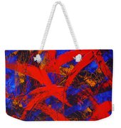 Transitions With Blue And Red  Weekender Tote Bag