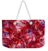 Transitions With White Red And Violet Weekender Tote Bag