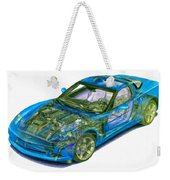 Transparent Car Concept Made In 3d Graphics 11 Weekender Tote Bag