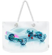 Transparent Car Concept Made In 3d Graphics 7 Weekender Tote Bag