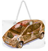 Transparent Car Concept Made In 3d Graphics 9 Weekender Tote Bag