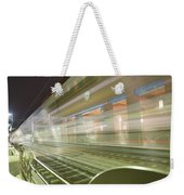 Transparent Trains Weekender Tote Bag