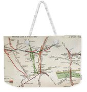 Transport Map Of London Weekender Tote Bag