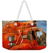 Transportation - Helicopter - Coast Guard Helicopter Weekender Tote Bag