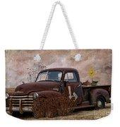 Transportation - Rusted Chevrolet 3100 Pickup Weekender Tote Bag