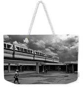 Transportation Station In Black And White Walt Disney World Weekender Tote Bag
