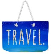 Travel Word Art Weekender Tote Bag