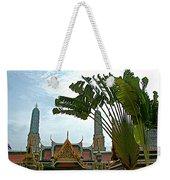 Traveler's Palm At Grand Palace Of Thailand In Bangkok Weekender Tote Bag
