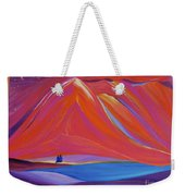 Travelers Pink Mountains Weekender Tote Bag