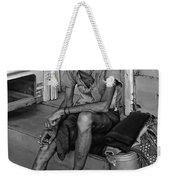 Travelin' Man Monochrome Weekender Tote Bag