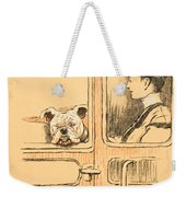 Traveling In First Class Weekender Tote Bag