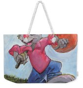 Traveling Rabbit Weekender Tote Bag
