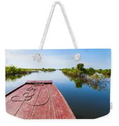 Traveling Through Tonle Sap Lake Weekender Tote Bag