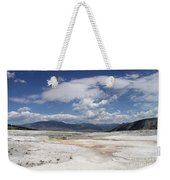Travertine Hill Of Mammoth Hot Springs  Weekender Tote Bag