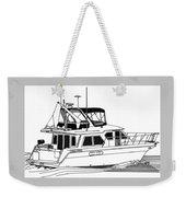Trawler Yacht Weekender Tote Bag by Jack Pumphrey