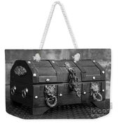 Treasure Chest In Black And White Weekender Tote Bag