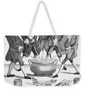 Treaty Of Paris Cartoon Weekender Tote Bag