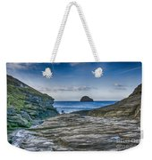 Trebarwith Strand Cornwall Weekender Tote Bag