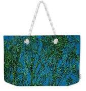 Tree Abstract Blue Green Weekender Tote Bag