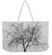 Tree Abstract In Black And White Weekender Tote Bag
