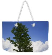 Tree Against A Cloudy Blue Sky In Vermont Weekender Tote Bag