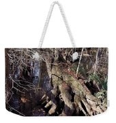 Tree Roots At The River Weekender Tote Bag