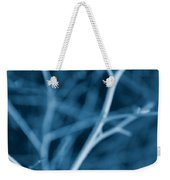 Tree Branches Abstract Cobalt Blue Weekender Tote Bag