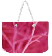 Tree Branches Abstract Hot Pink Weekender Tote Bag