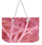 Tree Branches Abstract Pink Weekender Tote Bag