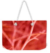 Tree Branches Abstract Red Weekender Tote Bag