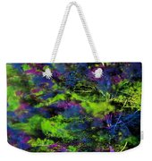 Tree Branches Lit With Abstract Colorful Projection Weekender Tote Bag