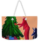 Tree Decorating Weekender Tote Bag