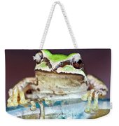 Tree Frog Weekender Tote Bag by Jean Noren