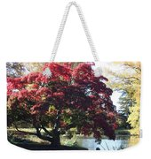 Tree Hanging Into Lake Weekender Tote Bag