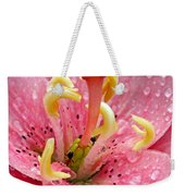 Tree Lily Upclose With Ant Weekender Tote Bag