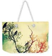 Tree Of Crows II Lights Weekender Tote Bag
