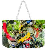 Tree Of Shame Near Tail Of Dragon Road In Nc Weekender Tote Bag