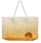 Tree On Hill At Dusk Weekender Tote Bag by Pixel  Chimp