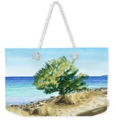 Tree On The Beach Weekender Tote Bag by Veronica Minozzi