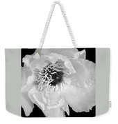 Tree Peony Close Up Black And White Weekender Tote Bag