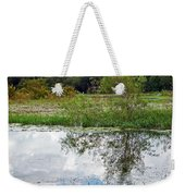 Tree Reflecting In Pond Weekender Tote Bag