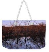 tree reflection on Wv pond Weekender Tote Bag