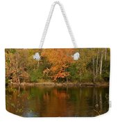 Tree Reflects Into The River Weekender Tote Bag