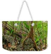 Tree Roots On Rock Weekender Tote Bag