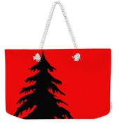 Tree Silhouette On A Red Background 2 Weekender Tote Bag