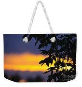 Tree Silhouette Over Sunset Weekender Tote Bag