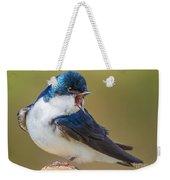 Tree Swallow Squawking Weekender Tote Bag