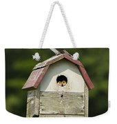 Tree Swallow With Young Weekender Tote Bag
