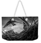 Tree Swallows In Nest Weekender Tote Bag