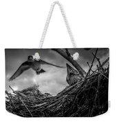Tree Swallows In Nest Weekender Tote Bag